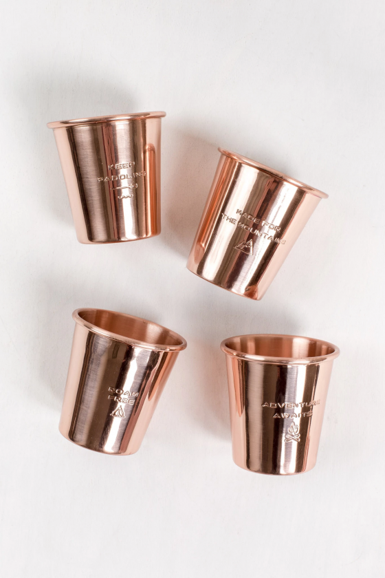 UNITED BY BLUE COPPER SHOT GLASS SET 85-COPPER TU